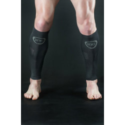 INC Pro Compressie Calf Sleeves wit / zwart Class 2 (23-32 mmHg) zwart