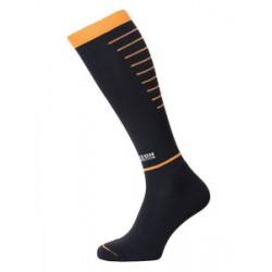 Horizon sport compressiekousen zwart/oranje