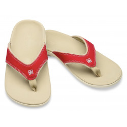Spenco Slippers true red, dames